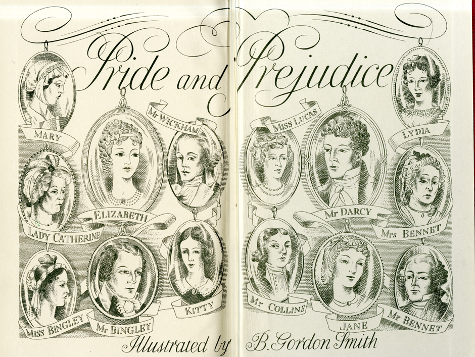 A Pride and Prejudice cover by B. Gordon Smith.