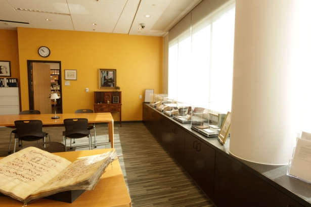 Our main research room, where we aid students, faculty, and visitors. Open 10am-4pm Mondays through Fridays.