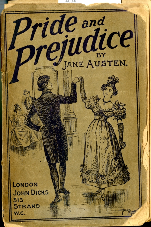 A John Dicks version of Pride and Prejudice printed in 1887.